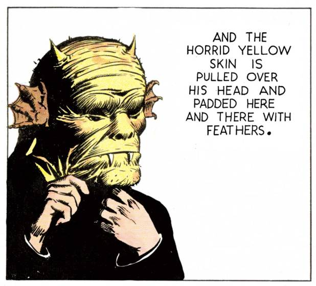 "A demonic looking character from ""prince Valiant"", published in 1937..."