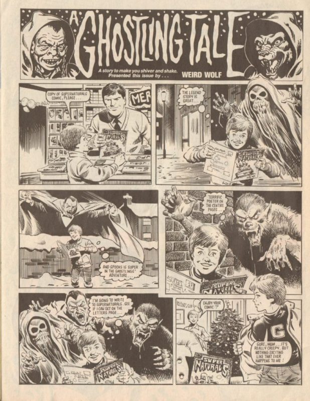 "The opening page of ""A Ghostling Tale"" from Super Naturals Issue Five, drawn by John Cooper"