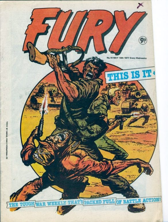 Fury #10 - cover by Carlos Ezquerra