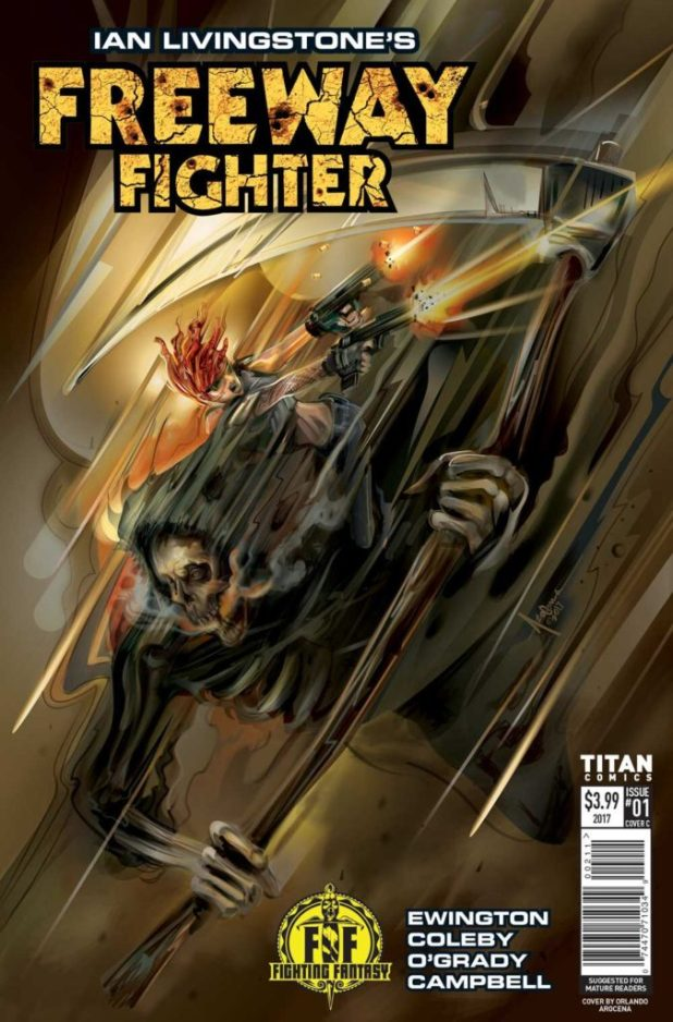 Freeway Fighter #1 - Cover C by Orlando Arocena