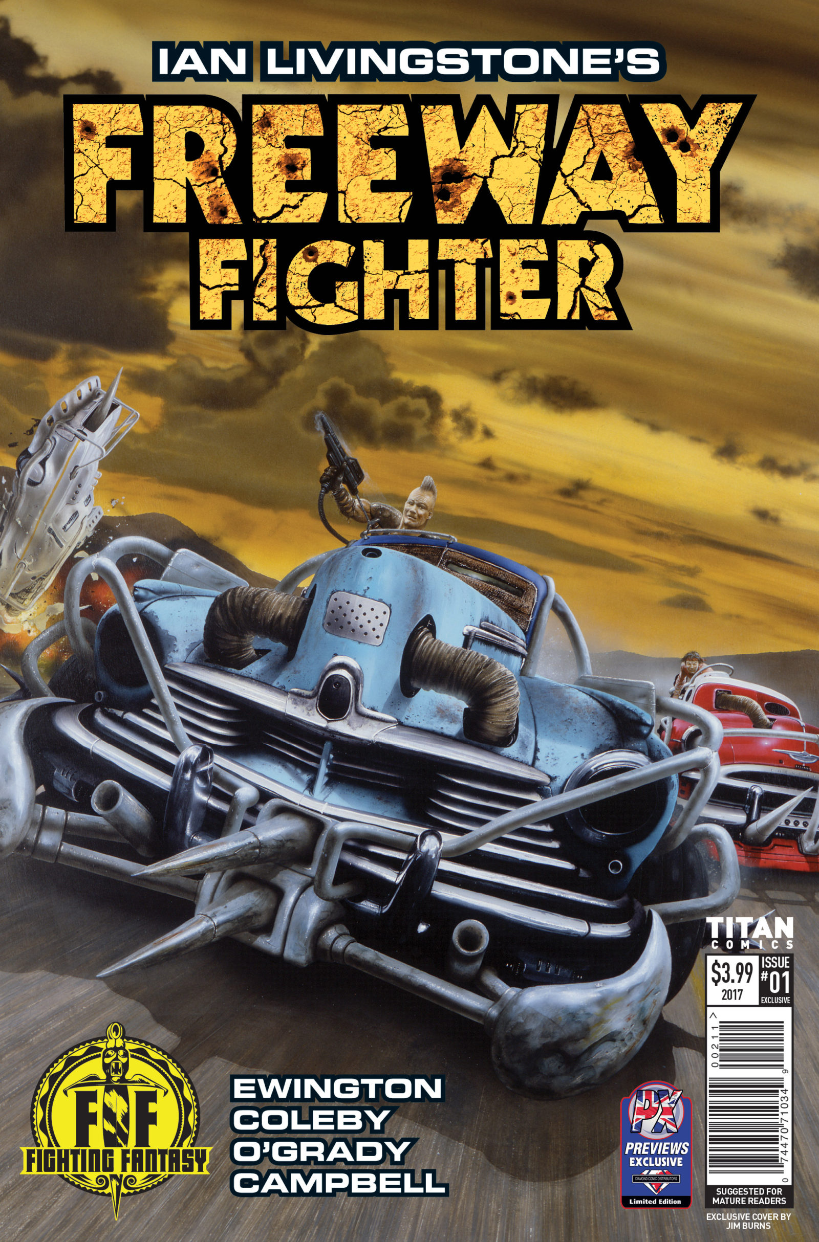 """Freeway Fighter #1 signing at Forbidden Planet London in May, Jim Burns, """"Fan Appreciation"""" variant covers revealed"""