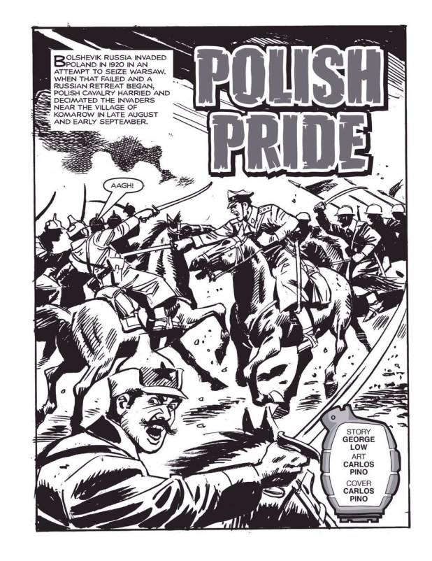 "Commando art by Carlos Pino - ""Polish Pride"""