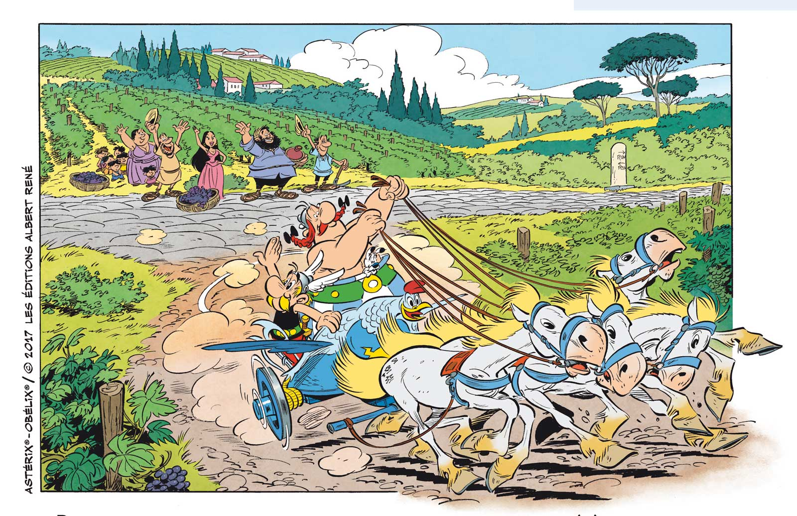 Asterix and Obelix in Britain. Actors of a wonderful adventure comedy
