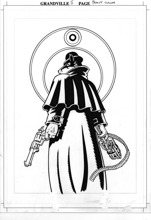 Bryan's art for the cover of Grandville: Force Majeure