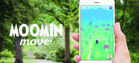 Moomins on the Move in new official app, launched this month at Kew Gardens