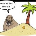 Desert Island Mash Up Cartoon by John Freeman