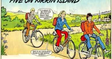"""Art from """"Five on Kirrin Island"""" by Barrie Mitchell for the pilot issue of Enid Blyton Adventures Magazine"""