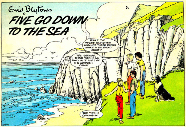 The opening panel from John's strip for Enid Blyton Adventures Issue One