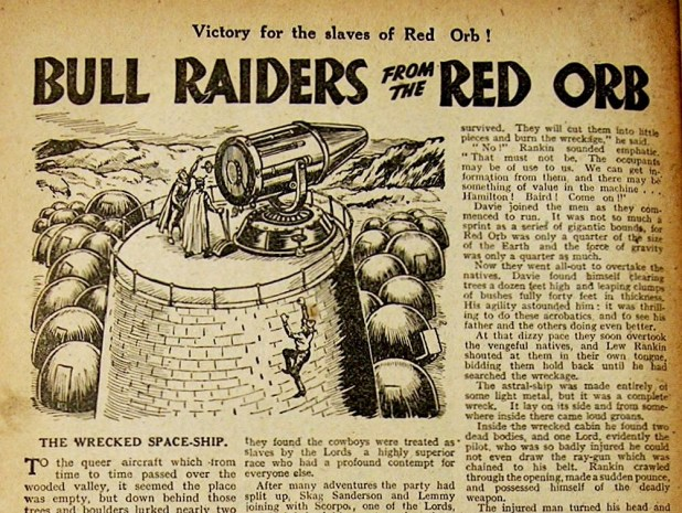 """Bull Raiders From The Red Orb"" (Adventure, 1945)"