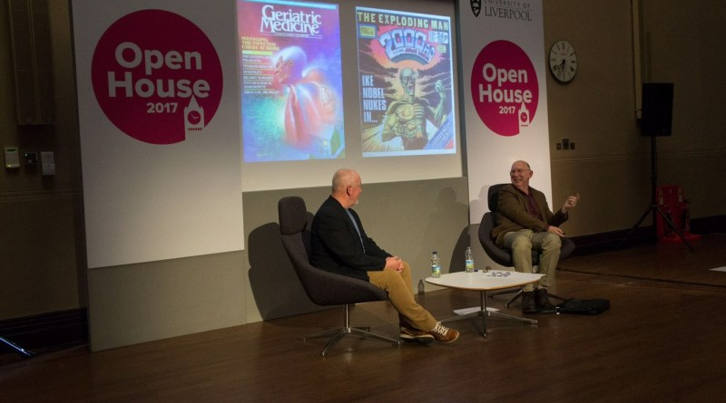 John Higgins being interviewed by Science Fiction Foundation Librarian Andy Sawyer