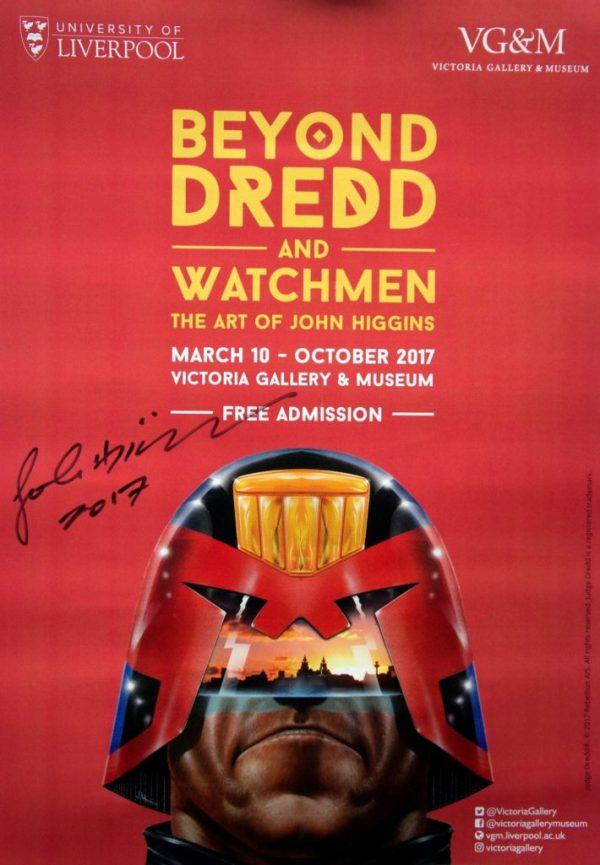 John Higgins Art Exhibition Signed Poster - Liverpool 2017