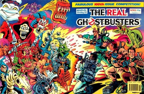 Brian Williamson's special wraparound cover for The Real Ghostbusters #100, published by Marvel UK
