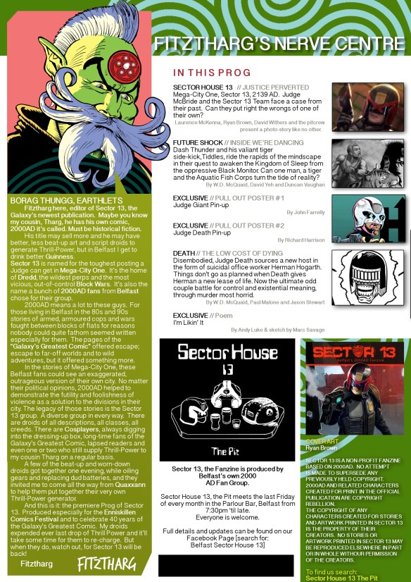 Sector 13 Issue 1 - Editorial