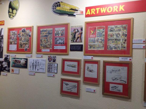 Dan Dare imagery on display at Herne Bay's Seaside Museum. Image: The Seaside Museum