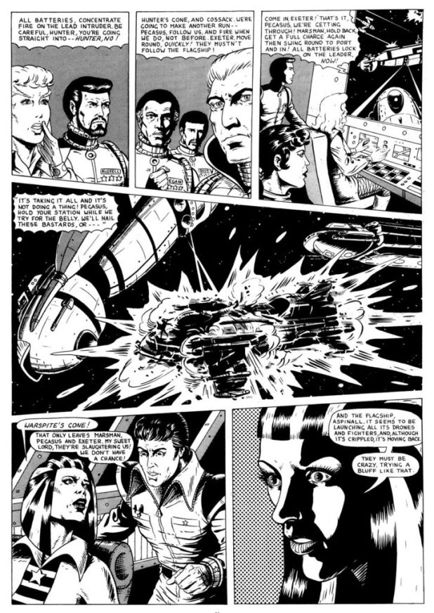 Art from Harrier Comics HMS Conqueror #1