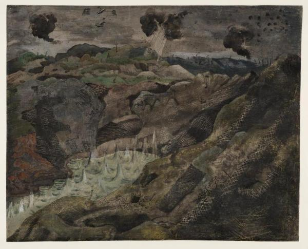 The Landscape, Hill 60, 1918, by Paul Nash