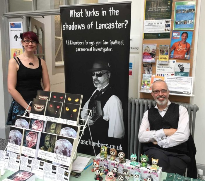 Local authors JS Collyer and AS Chambers. Photo: John Freeman