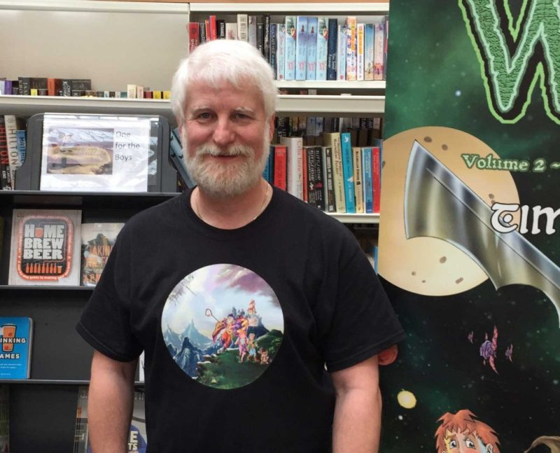 Comic artist, writer and publisher Tim Perkins. Photo: John Freeman
