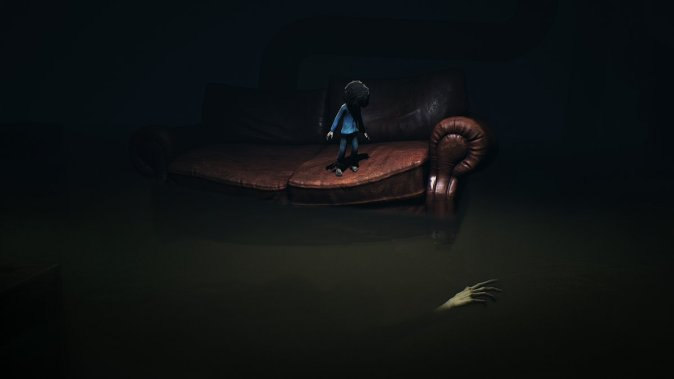 "A new creature you will love to stay away from in ""The Depths"" -  Chapter 1 of Little Nightmares - Secrets of the Maw. Image: Bandai-Namco"