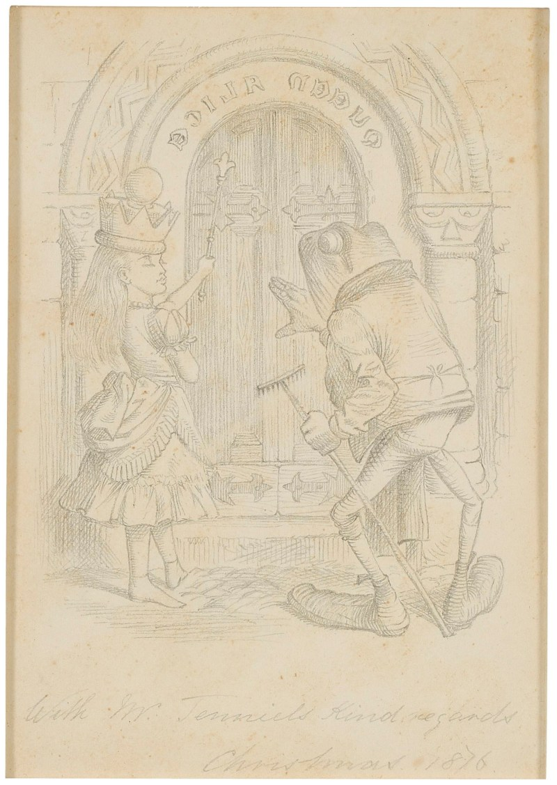 One of Sir John Tenniel's original illustrations for the first edition of ''Through the Looking Glass'' by Lewis Carroll.