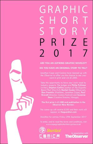 Observer/ Cape/ Comica Graphic Short Story 2017 Prize Poster