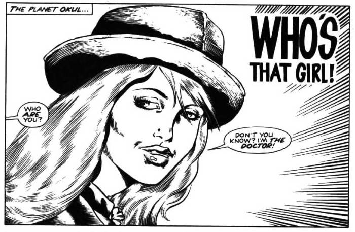 A panel from Incredible Hulk Presents #9 - Doctor Who - Who's That Girl