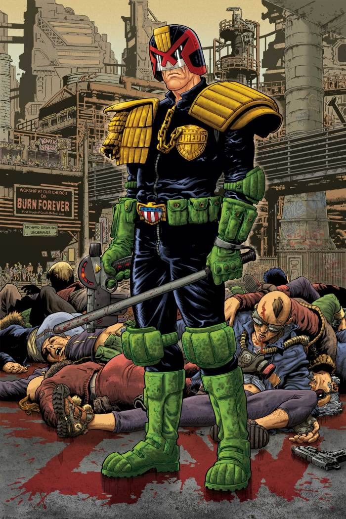 A cover for IDW's Judge Dredd comic by Mark Sexton