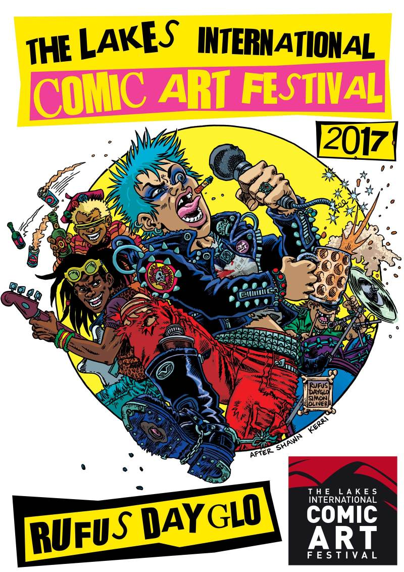 Last Gang in Town LICAF Poster - Rufus Dayglo