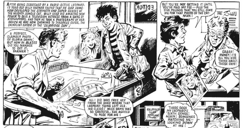 Billy supplements his pocket money by selling photographs to a local newspaper editor who definitely gives Spider-Man's J. Jonah Jameson a run for his money