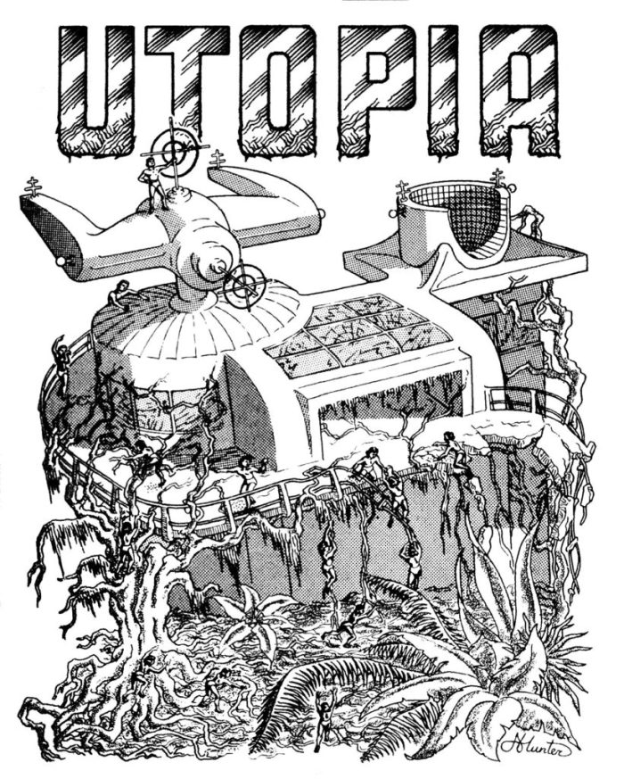 UTOPIA, published in 1970, edited by Paul McCartney and Dave Womack, containing Alan Moore's first published fanzine work