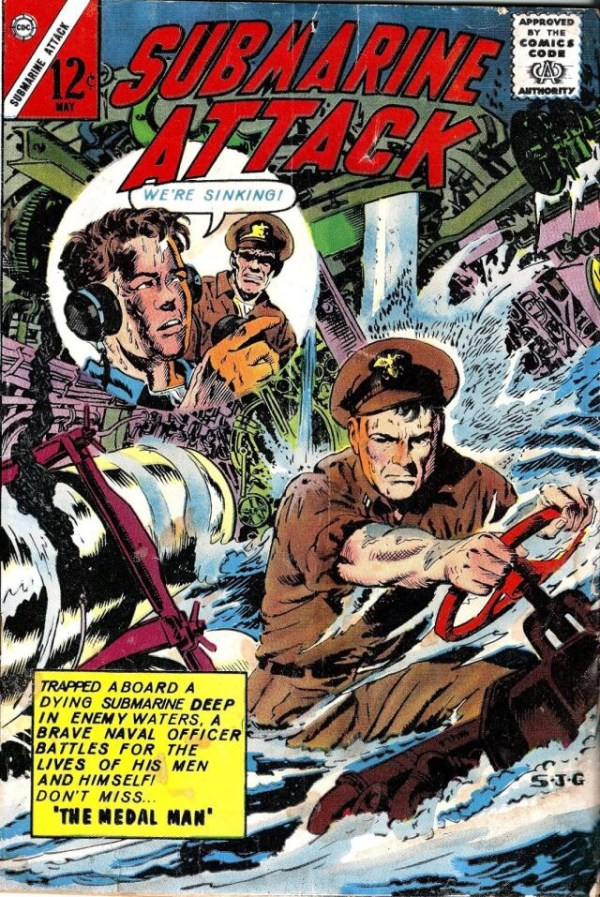 The cover of Submarine Attack #39, 1963, by Sam Glanzman