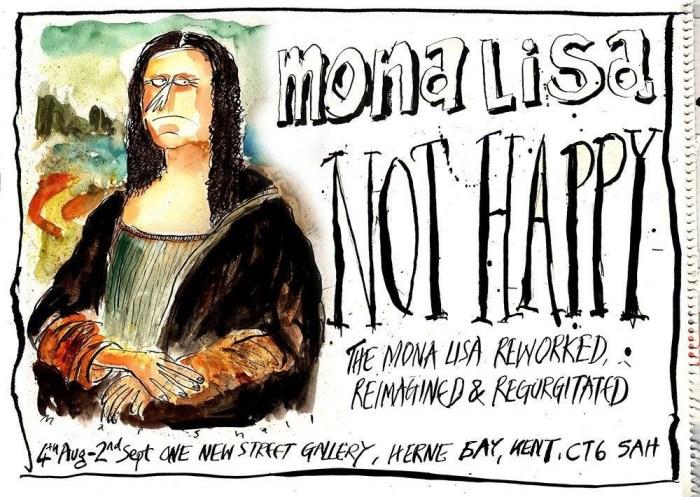 Mona Lisa - Not Happy Exhibition - Herne Bay 2017