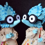 """Commissioned by the Lakes International Comic Art Festival to celebrate the work of Tove Jansson, """"Archipelagogo """" is a spellbinding multimedia exhibition by artists Jonathan Edwards and Louise Evans (Felt Mistress) creating a group of fantasy islands and creatures."""