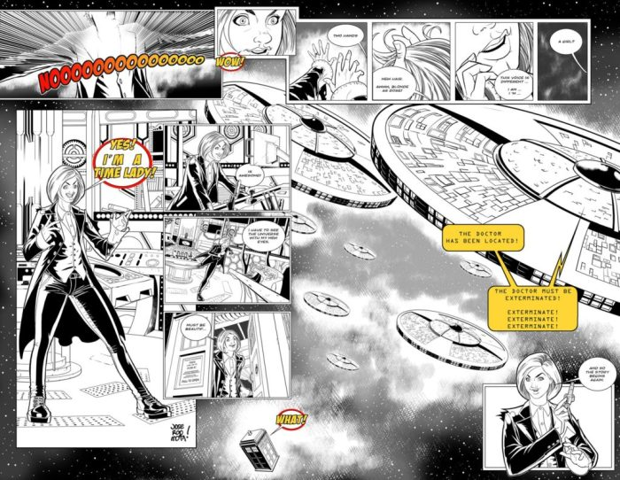 Jose Rodriguez Mota sent in this terrific strip spread - the only one received and we couldn't not highlight the work.