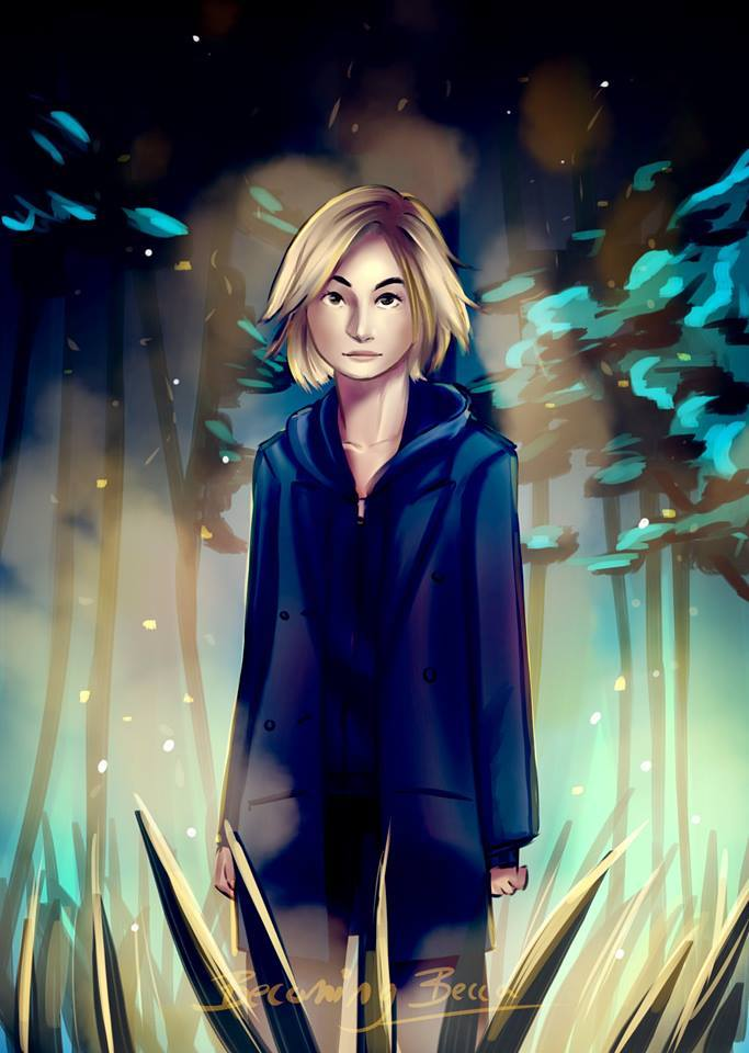 """There was plenty of fan art drawing on Jodie's """"trailer"""" from the show, but I liked this manga-styled approach by Katie Rebecca Bass."""