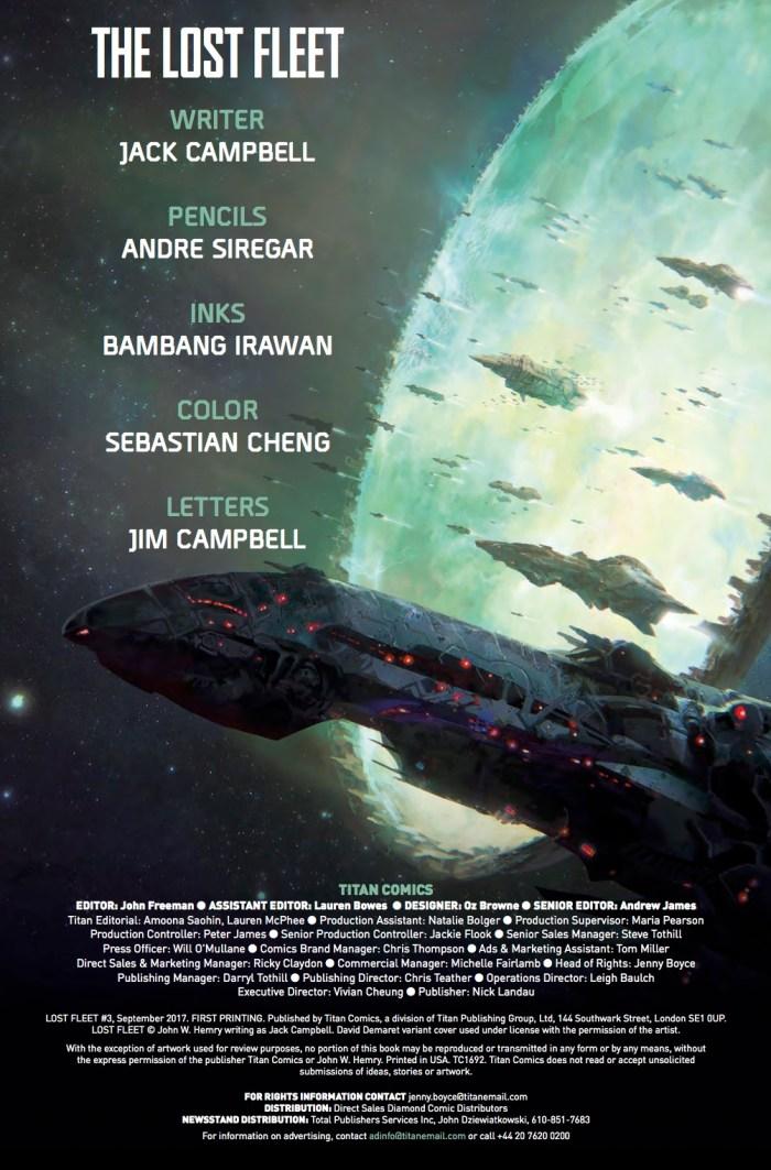 The Lost Fleet #3 Credits 2
