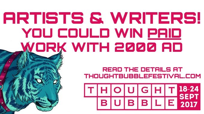 2000AD Thought Bubble Challenge Banner 2017