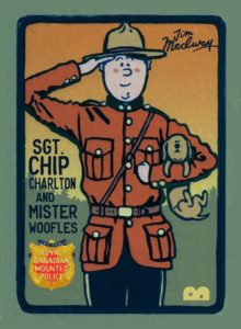 Sgt Chip Charlton and Mister Woofles of the Royal Canadian Mounted Police