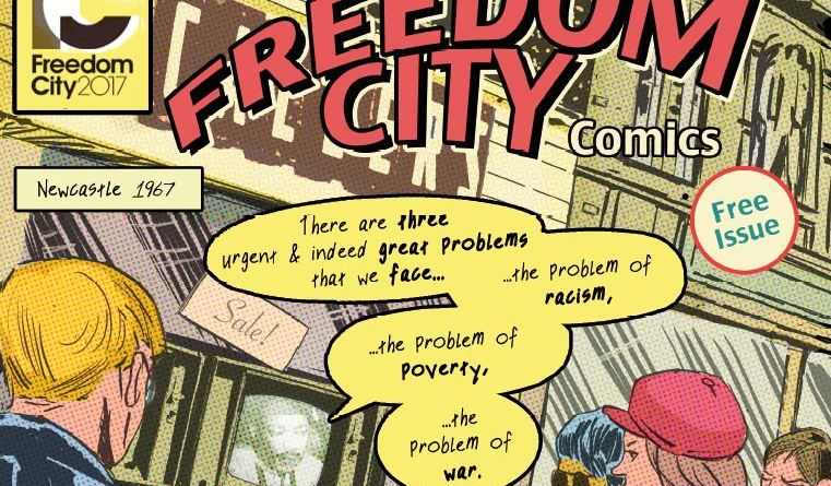 The cover of Freedom City Comics by Paul Peart Smith and Paul Barry with Brian Ward