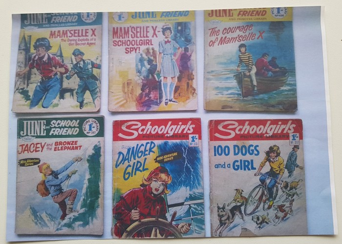 Just some of the comics Giorgio-Giorgetti worked on. Photo with thanks to Riccardo Giorgetti