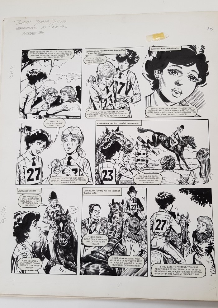 Tammy and Jinty - Jump Jump Julia by Giorgio Giorgetti - episode for issue cover dated 2nd January 1982