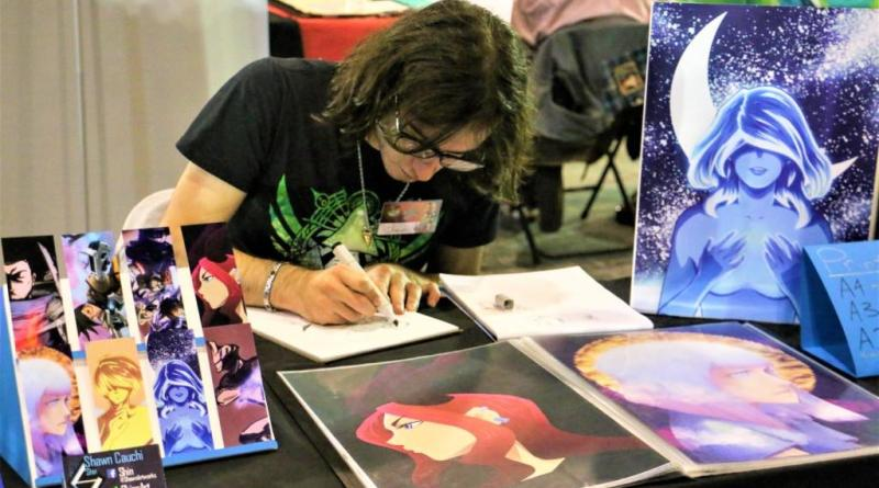 A Maltese comic creator at Malta Comic Con last year