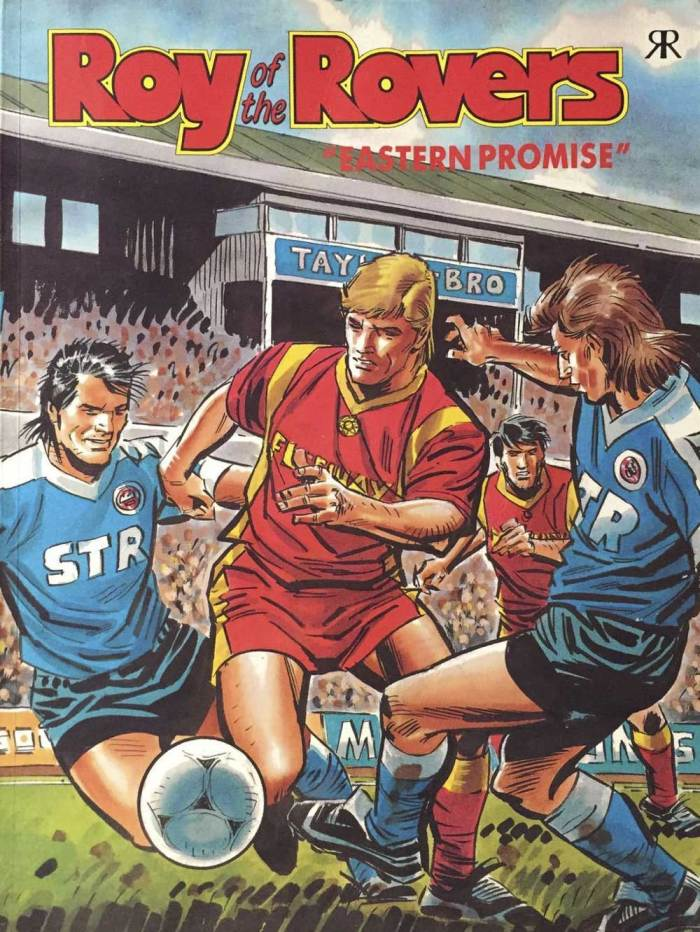One of many Roy of the Rovers spin-off books, detailed here by Richard Sheaf