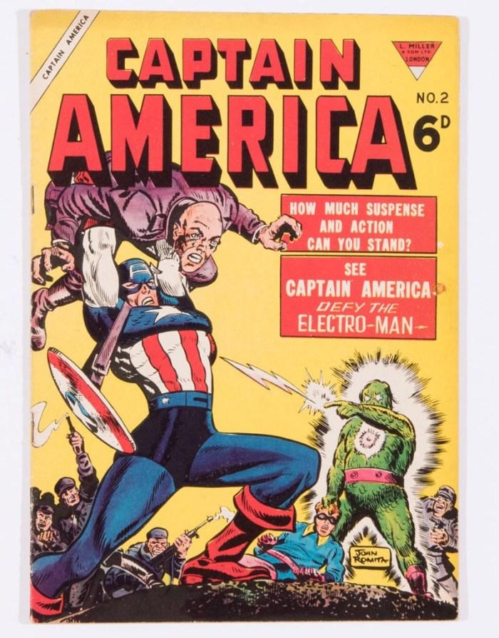 L. Miller's rare Captain America No 2