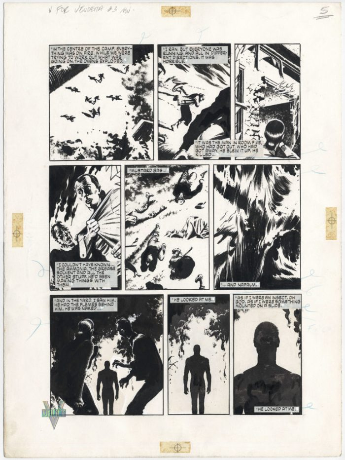 Original art for V for Vendetta by David Lloyd