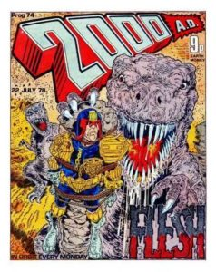 The cover of 2000AD Prog 74 by Mick McMahon