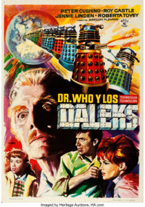 "Spanish Doctor Who and the Daleks film poster with art by Macario ""Mac"" Gomez"
