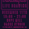 Burlesque Life Drawing Poster - Mancunian Way 2017