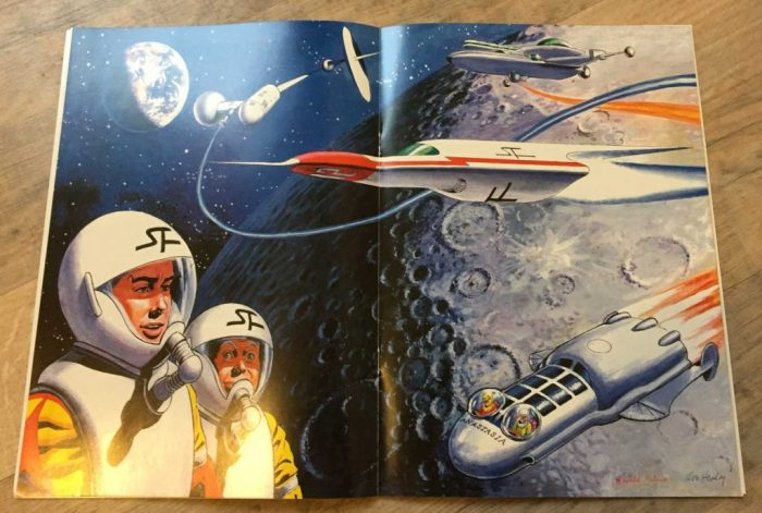 An illustration of the 1960s take on Dan Dare for Spaceship Away Part 18, art by Don Harley and Gerald Palmer