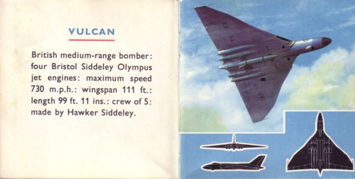 An illustration of a Vulcan bomber for Planes Book One by Gerald Palmer
